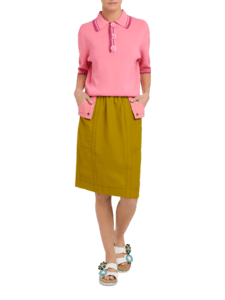 Skirt with Contrast Pocket Flaps