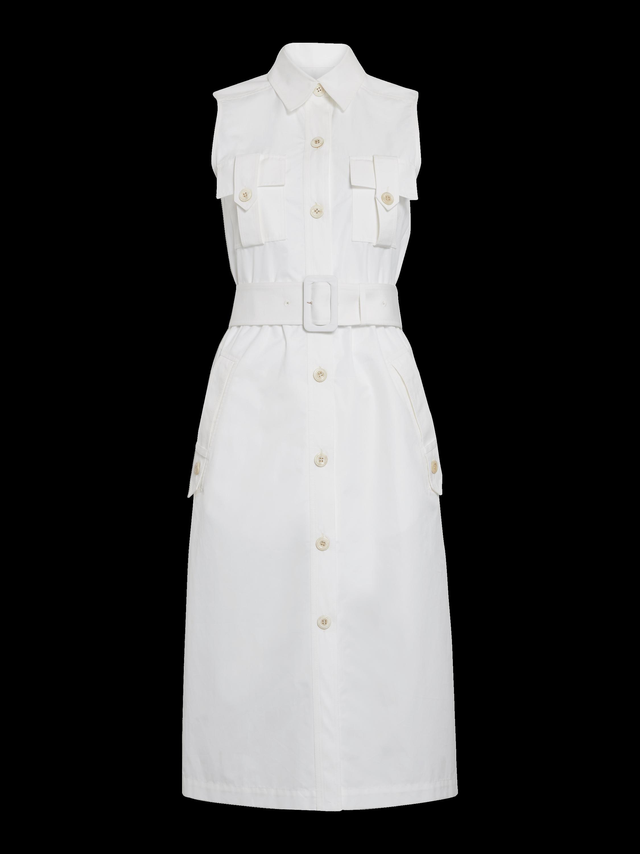 Sleeveless Utility Shirt Dress