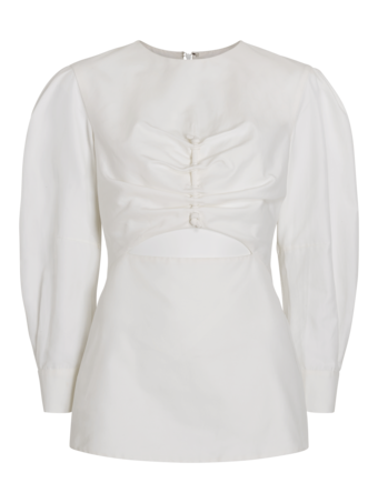 Long Sleeve Top With Cut-Out Detail
