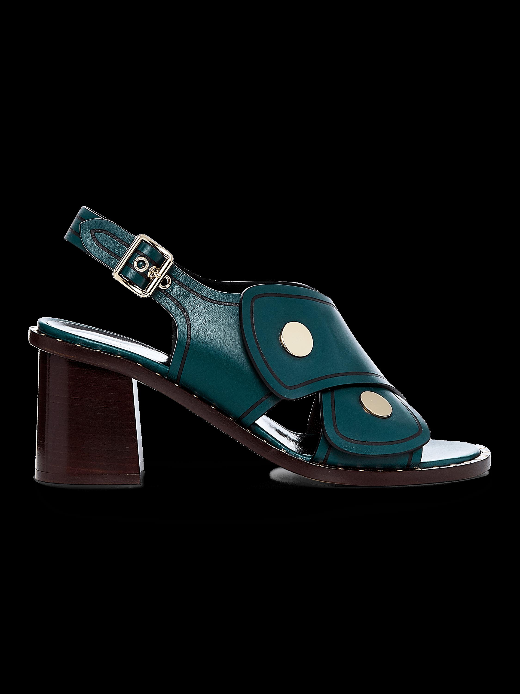 Lagos Calf Block Heel Sandal