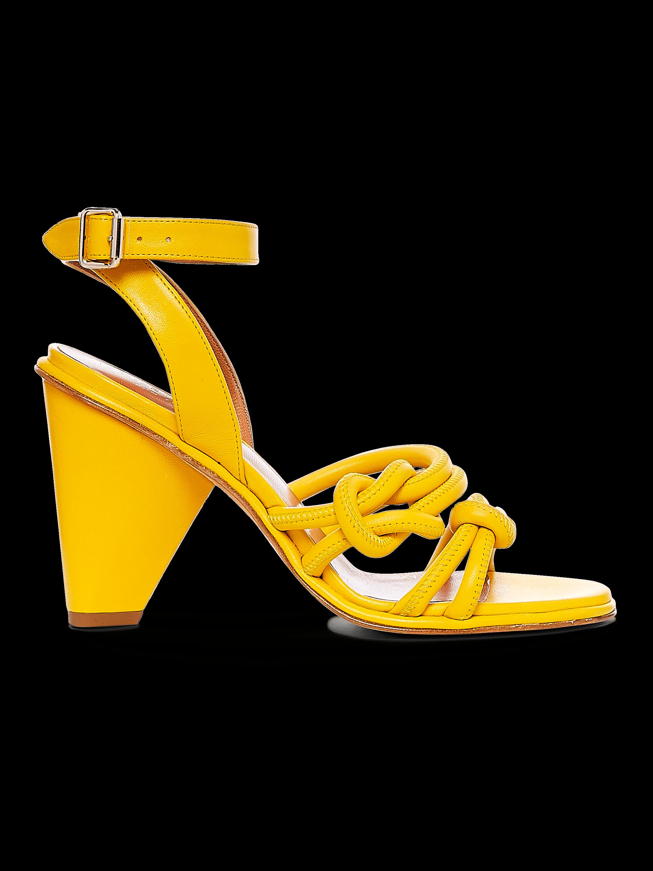 Nuru Nappa Cone Heel Sandal