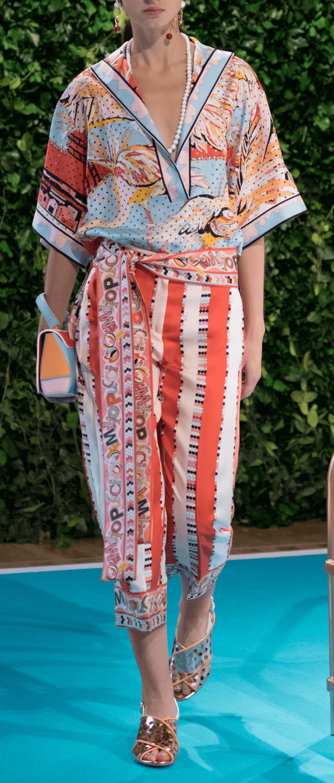 Silk Stripe Pant