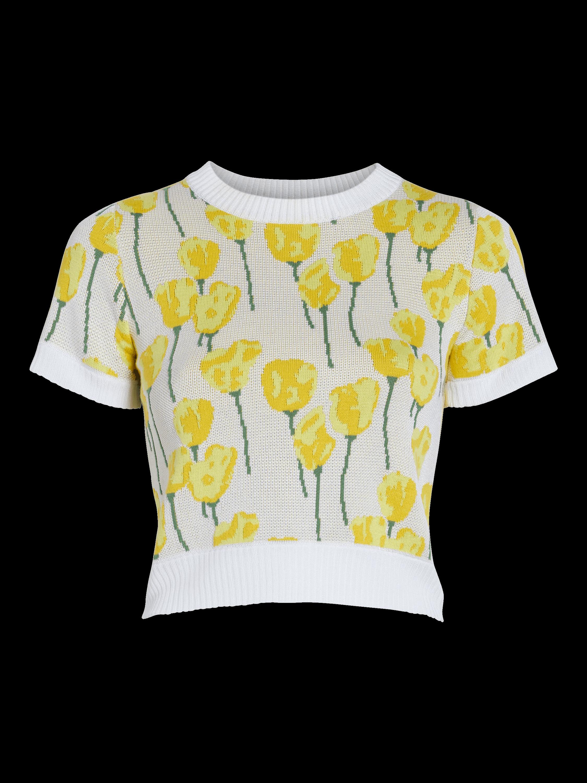 Jacquard Knit T-Shirt