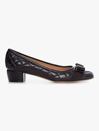 Salvatore Ferragamo Vara Quilted Leather Pump 1