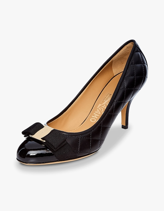 Salvatore Ferragamo Carla Quilted Leather Pump 1