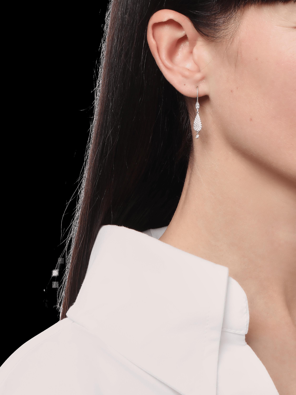 White Gold Pavé Teardrop Earrings