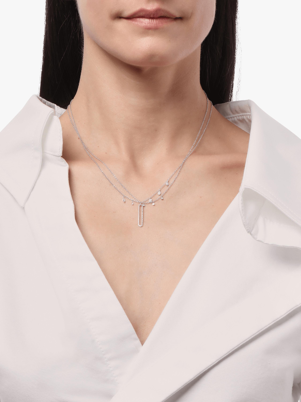 Gold Pavé Cutout Pendant Necklace