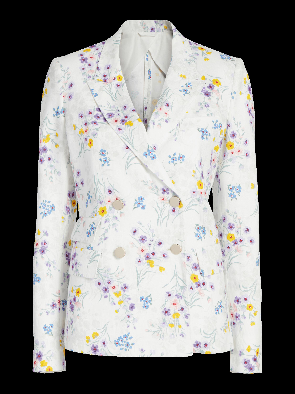 Floral Linen Blazer