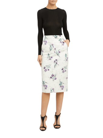 Legume Floral Pencil Skirt