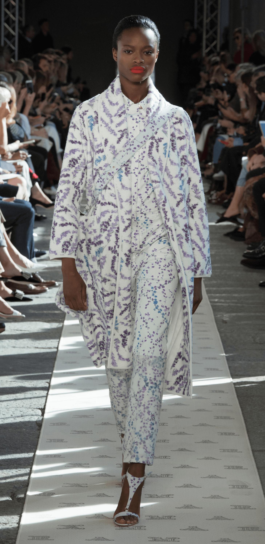Floral Gabardine Trouser