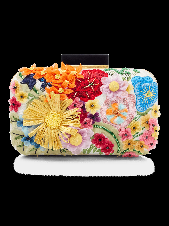 Shirley Embellished 3D Floral Clutch