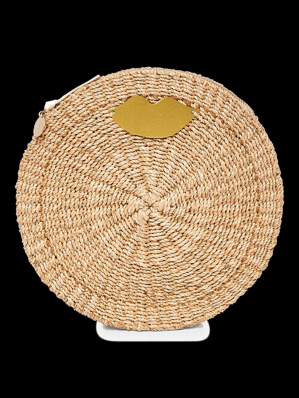 Woven Circle Clutch