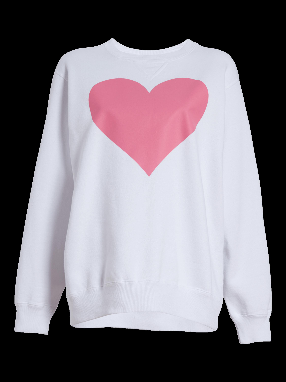Pink Heart Crewneck Sweatshirt