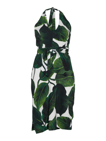 Banana Leaf Print Vanessa Dress