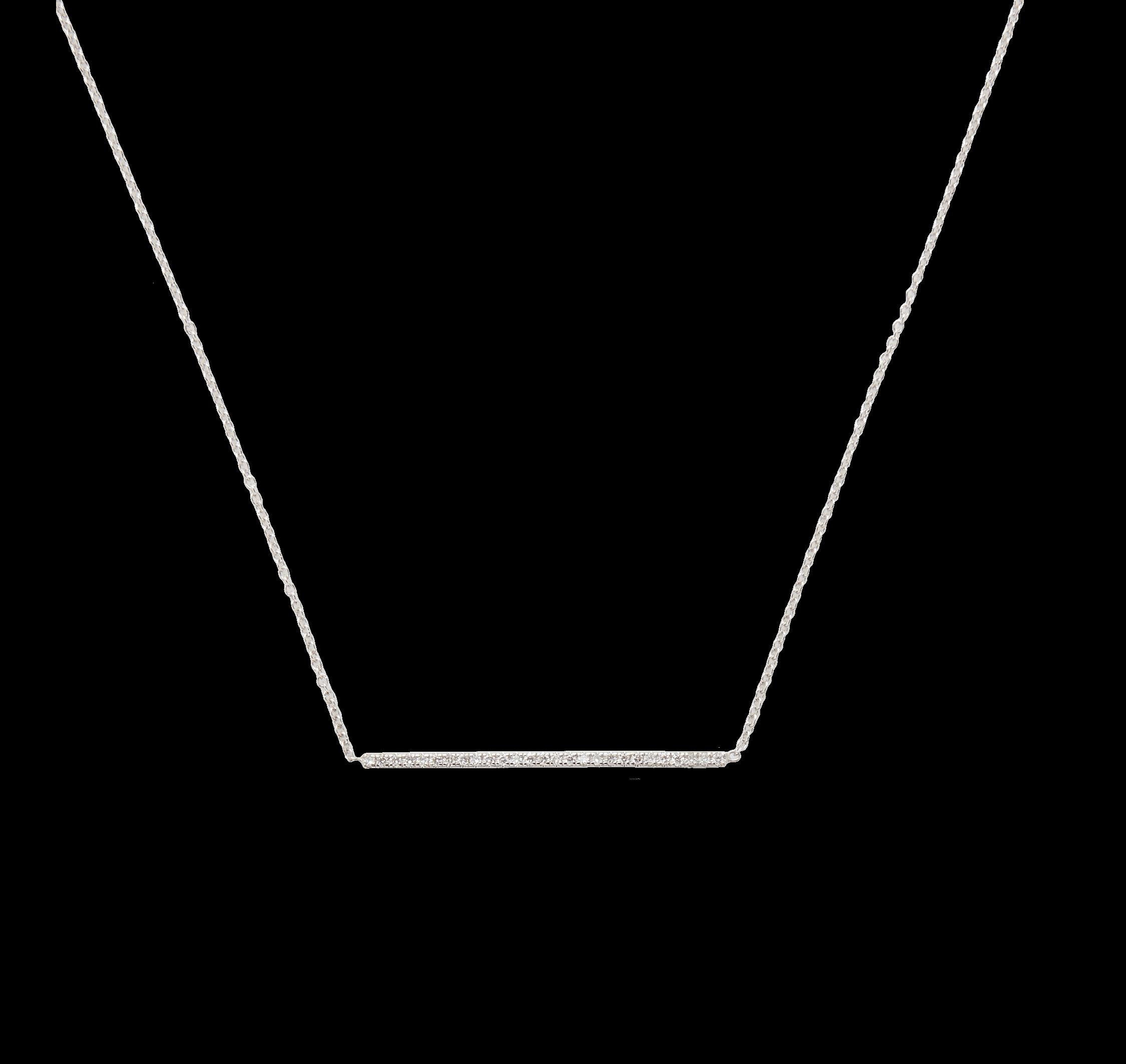 18K Dia Bar Necklace