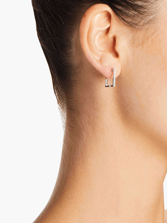 Square Huggie Earrings Roberto Coin