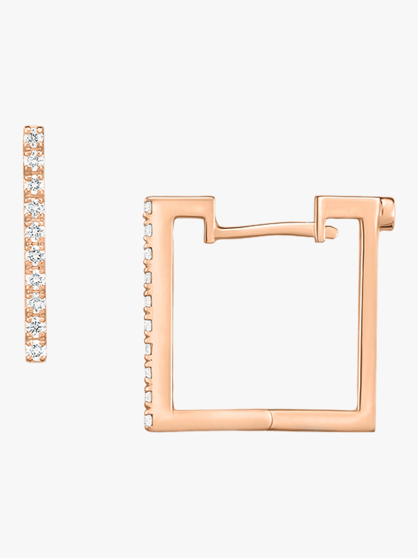 Roberto Coin Square Huggie Earrings 1