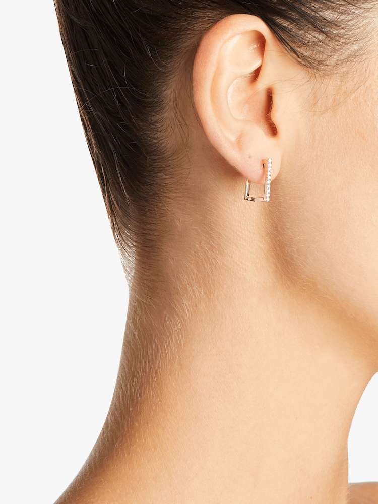 Square Huggie Earrings Roberto Coin