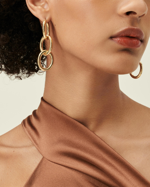 18K Y 3 Loop Earrings