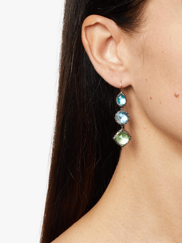 Sadie 3-Drop Earrings Larkspur & Hawk