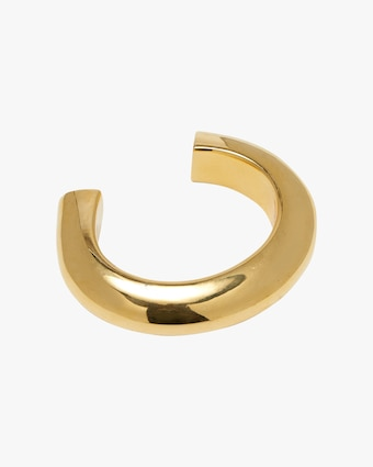Ridge Gold-Plated Cuff Bracelet