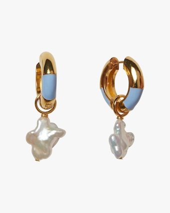 Life Saver Freshwater Pearl Hoop Earrings