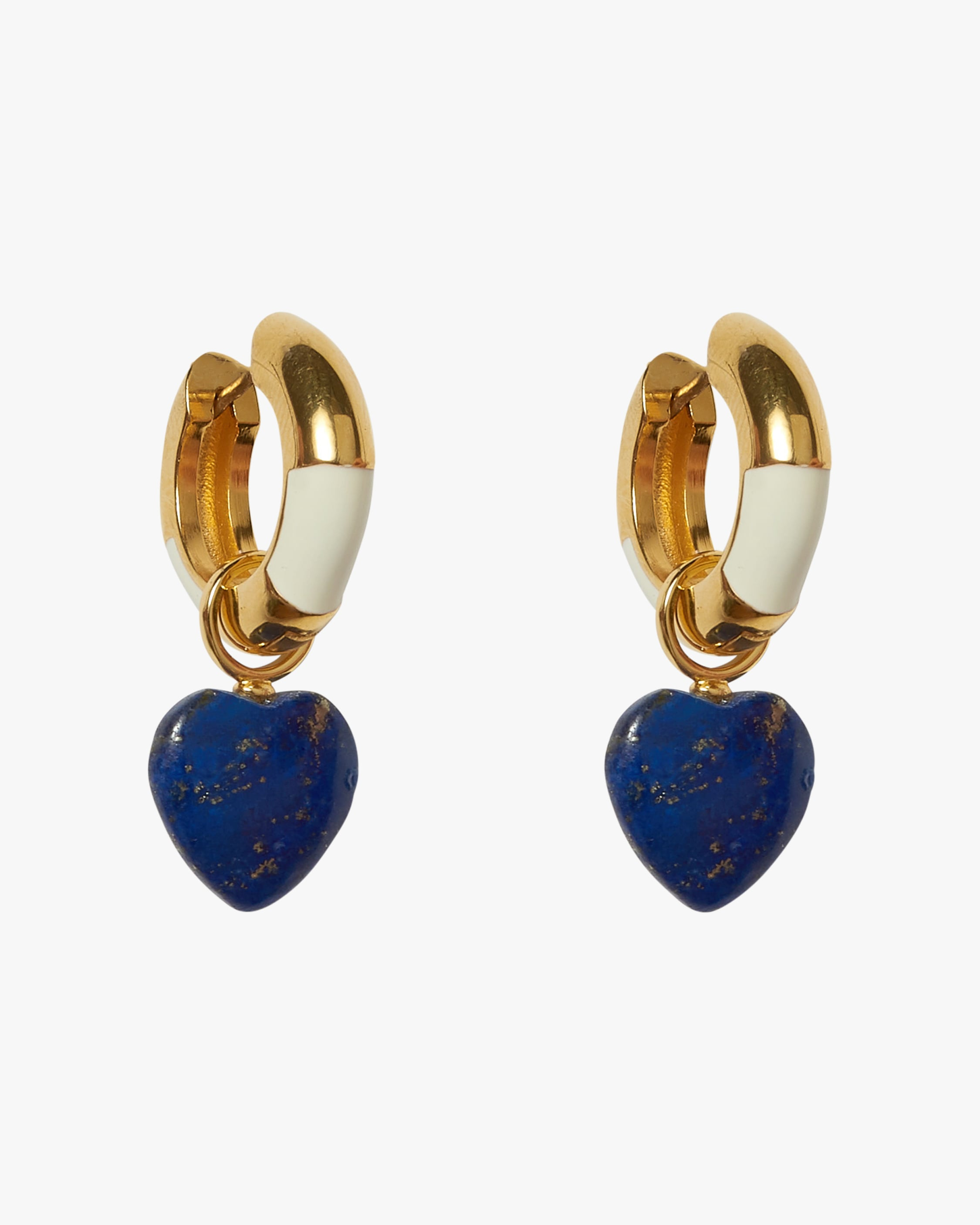 Lizzie Fortunato LIFE SAVER LAPIS HOOP EARRINGS