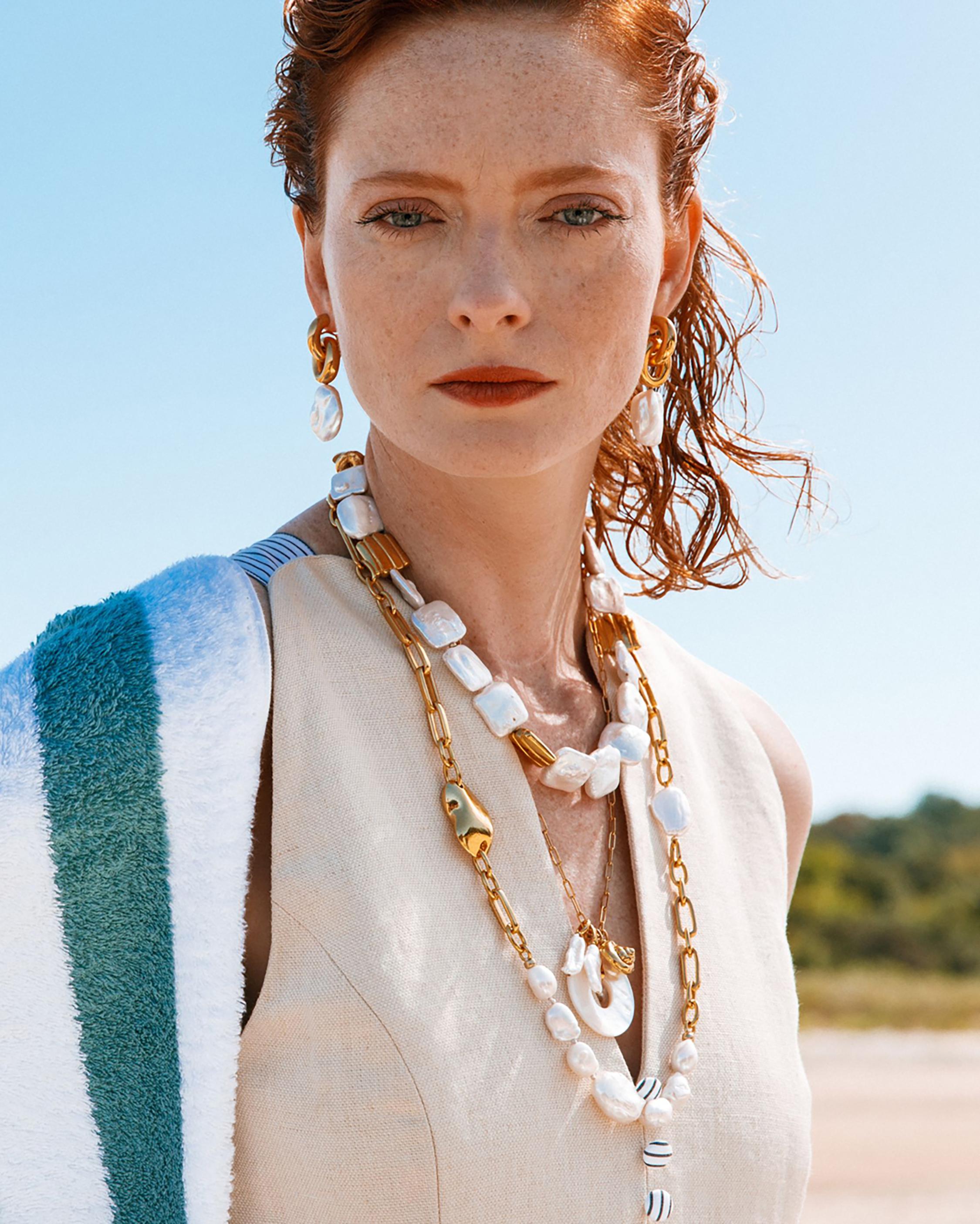 Lizzie Fortunato Garda Pearl Collar 1