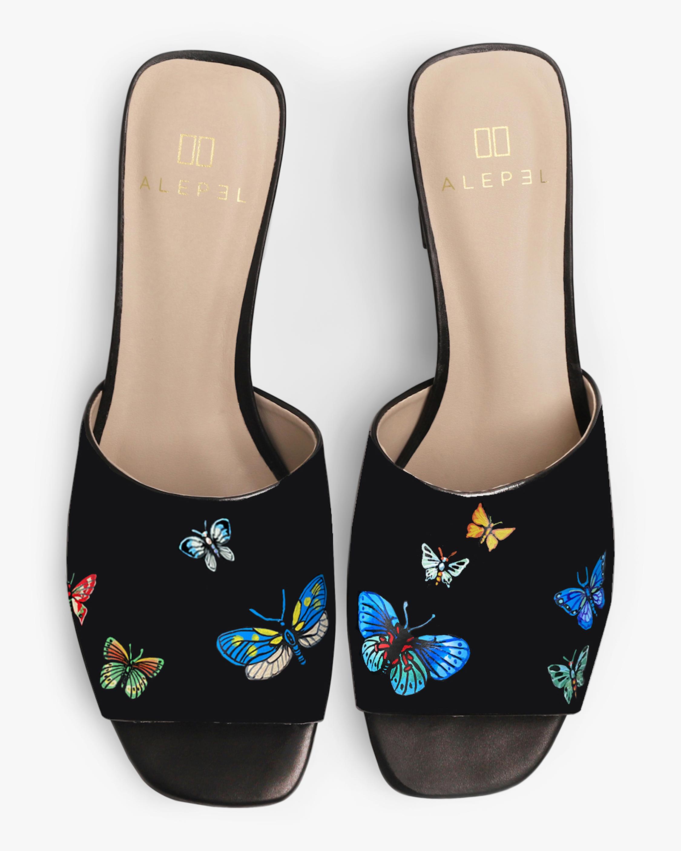 Alepel Butterflies Peep-Toe Mule 0
