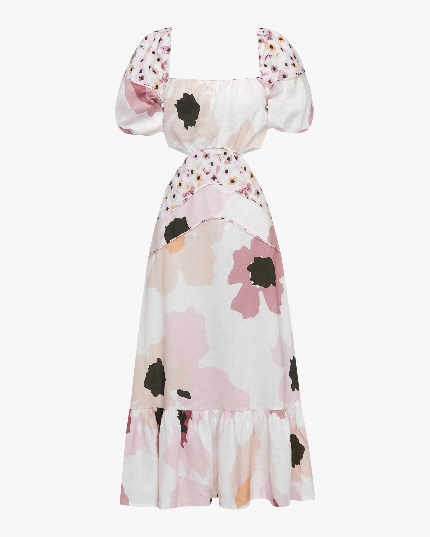 Peony Cutout Midi Dress 0