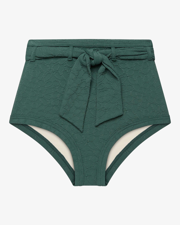 Belted High-Waist Bikini Bottom
