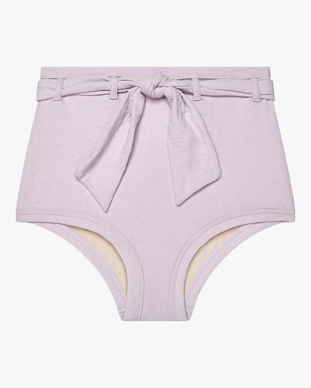 Peony Belted High-Waist Bikini Bottom 0