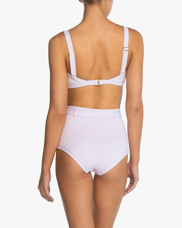 Peony Belted High-Waist Bikini Bottom 1