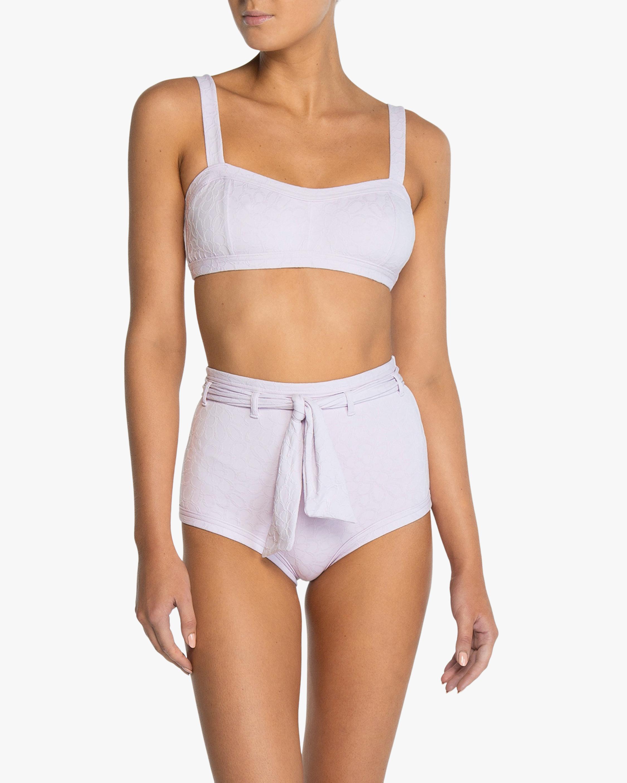 Peony Belted High-Waist Bikini Bottom 2