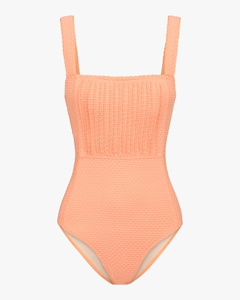 Pintucked One-Piece Swimsuit
