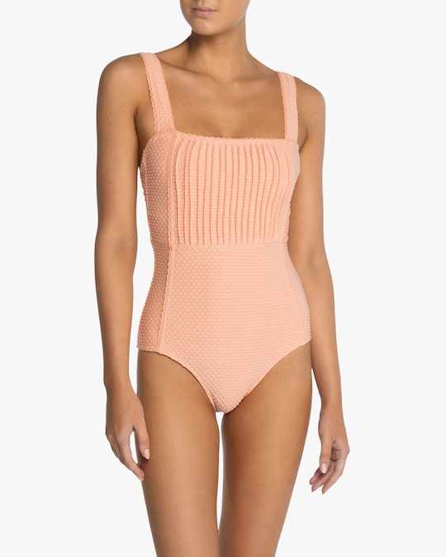 Peony Pintucked One-Piece Swimsuit 1