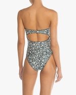 Peony Ruched Strapless One-Piece Swimsuit 2