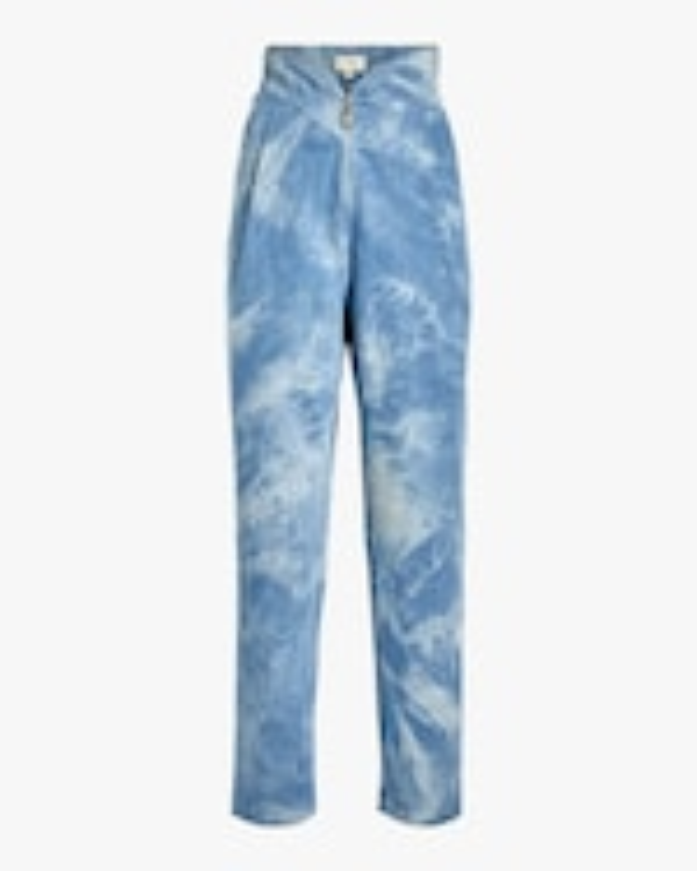 Divine Heritage Sweetheart-Waist Pleated Jeans 0