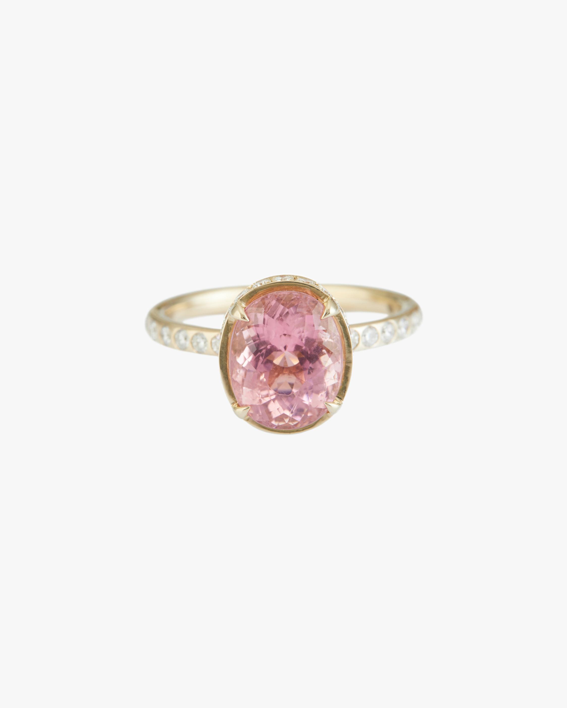 Yi Collection Pink Tourmaline Diamond Halo Ring 1