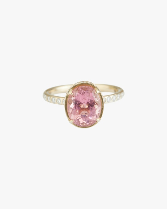 Yi Collection Pink Tourmaline Diamond Halo Ring 0