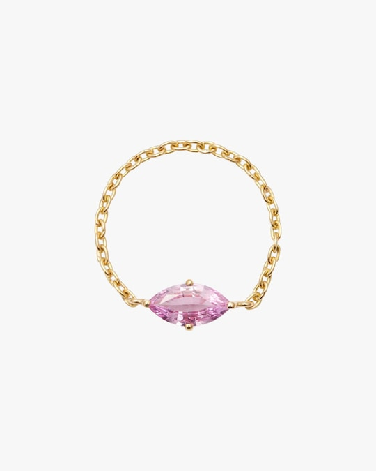 Yi Collection Pink Sapphire Marquise Supreme Chain Ring 0