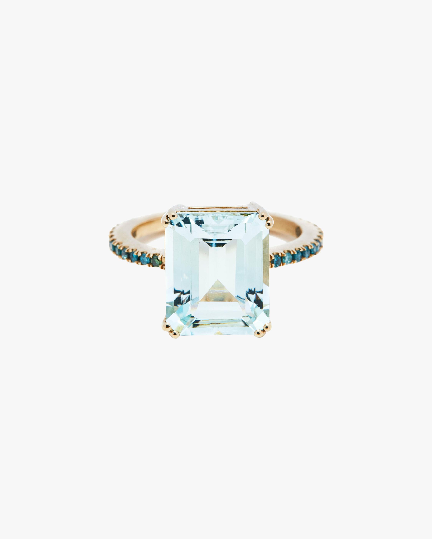 Aquamarine & Blue Diamond Ring