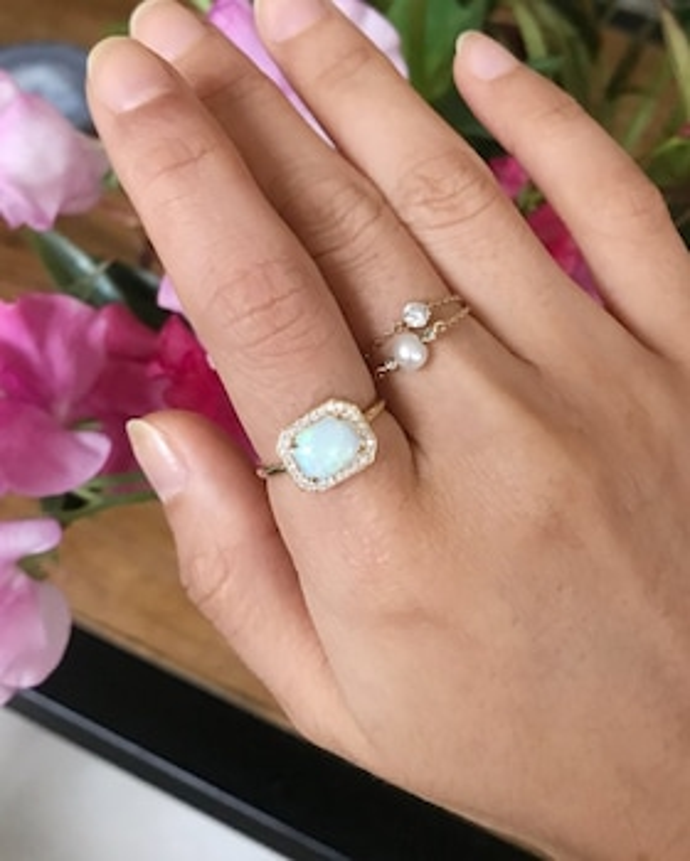 Opal & Diamond Mini Magic Ring