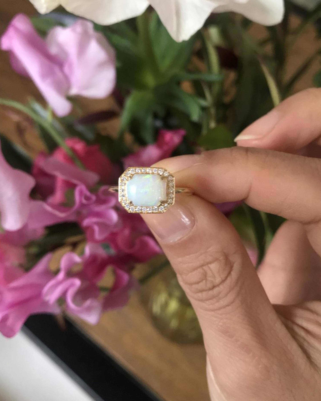 Yi Collection Opal & Diamond Mini Magic Ring 2
