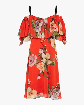Preen by Thornton Bregazzi Georgette Hanalee Off-Shoulder Dress 1