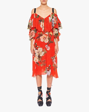 Preen by Thornton Bregazzi Georgette Hanalee Off-Shoulder Dress 2