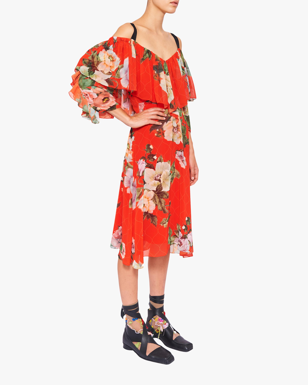 Preen by Thornton Bregazzi Georgette Hanalee Off-Shoulder Dress 2
