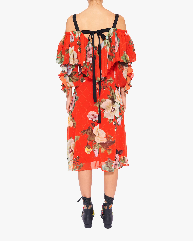 Preen by Thornton Bregazzi Georgette Hanalee Off-Shoulder Dress 3