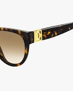 Givenchy Temple-Band Round Sunglasses 2