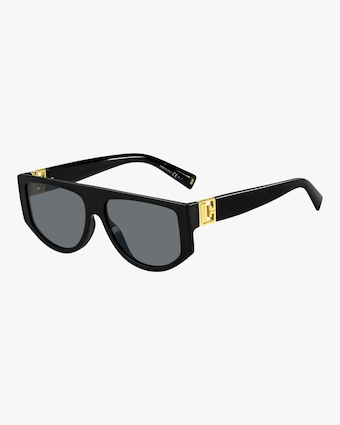 Temple-Band Shield Sunglasses